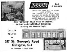 Advert for Bells Bar