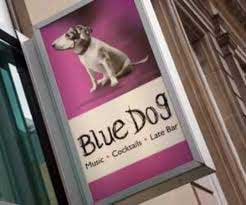 Blue Dog sign