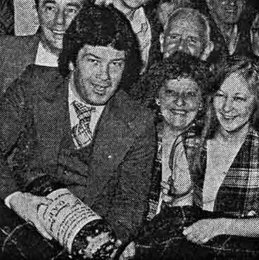 Motherwell footballer Jimmy O'Rourke breaks a bottle 1979