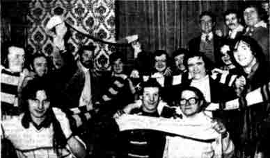 Group of customers of the Cross Bar Gallowgate 1978