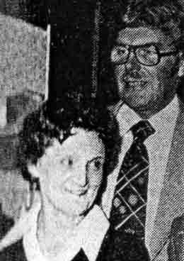 Eddie Wilkins and Marie Hendry of the Lochy Bar Fort William 1979