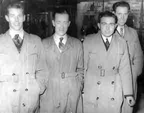Mr Hugh Gallagher with friends James McCready and Eddie Boyle.