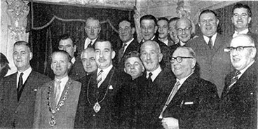 group image of the Burns club with James K Webster and friends 1962.