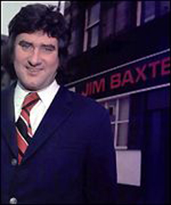 Jim Baxter outside his pub