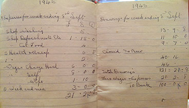 A Ledger from the Molendinar Bar 1945.