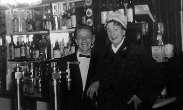 Interior view of the Molendinar Bar with owner Mrs Isabel McAllister.