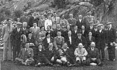 Mrs J Ruxton with staff 1937