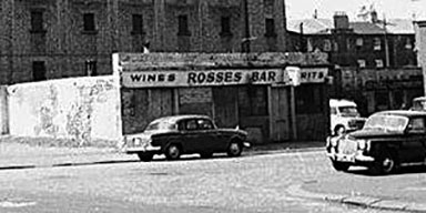 exterior view of Rosses Bar 24 Portugal Street Gorbals