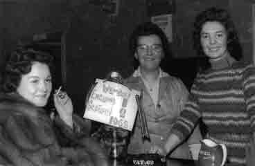Tron Bar interior with 3 ladies 1960s