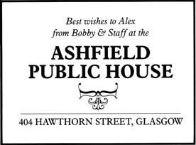 Ashfield Bar Advert