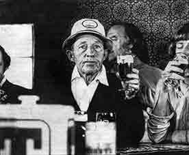 Bing Crosby having a drink in a pub on Byres Road. 1976