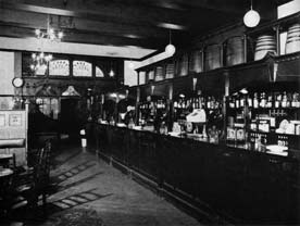 Interior view of the Bull Inn