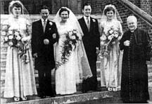 Wedding photo of Bridie and Mr Cairns 1950