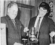 Mr J Maguire of Usher's and manager Mr J Boyle 1967
