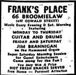 Frank's Place Advert 1971