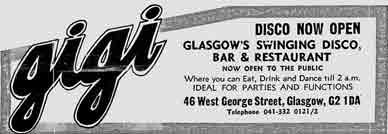 Gigi's advert 1978