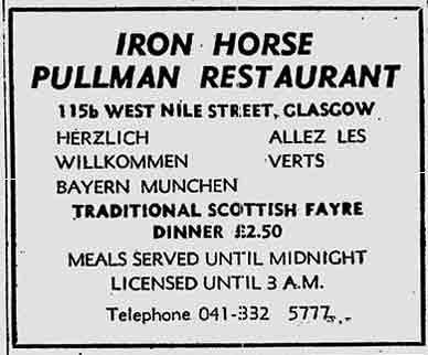 Iron Horse Advert 1976