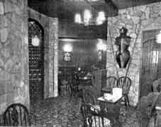 A corner of the Dungeons in Jackson's Dog House. 1960.