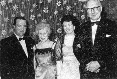 group image with Mr & Mrs J Hamilton, Mrs & Mr J Culligan 1962