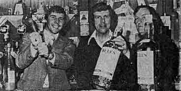 Jim Whyte at the Horseshoe Bar Airdrie 1979