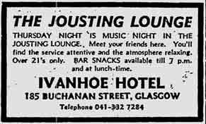 Jousting Lounge Ivanhoe Hotel 1975