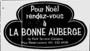 La Bonne Auberge advert 1976