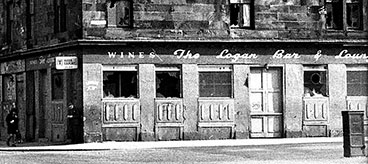 Exterior view of the Logan Bar & Lounge 1960s