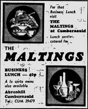 Maltings advert 1973