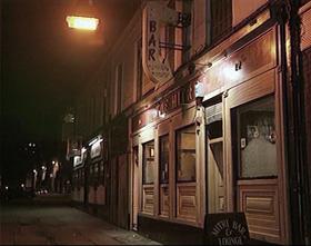 Mitre Bar at night