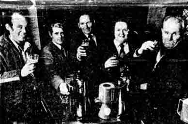 Customers at the Montgomerie Arms 1978