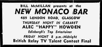 New Monaco Bar advert 1978