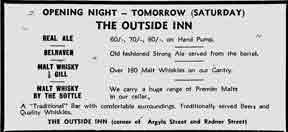 Outside Inn advert 1979