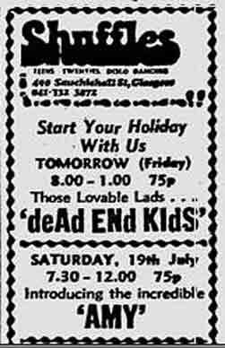 Shuffles advert 1975