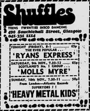 Shuffles Advert 1974