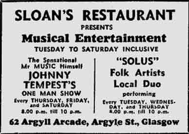Sloans advert 1975