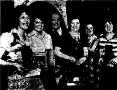 Winners of Glasgow's first ladies darts league 1976