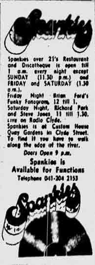Spankies advert 1974