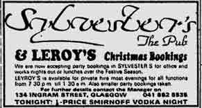 Sylversters ad 1982