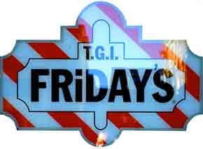 T.G.I Fraiday's sign