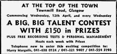 Top of the Town advert 1978