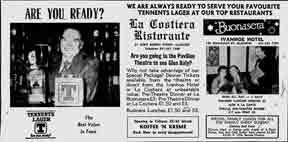 La Costiera advert 1979