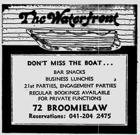 Waterfront advert 1979