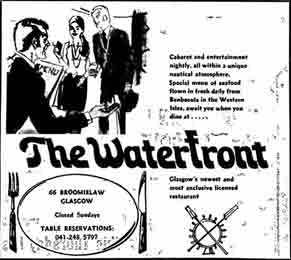 Advert for the Waterfront 66 Broomielaw