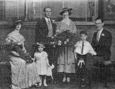 wedding photo of Miss Rea Waid and groom Robert W Webster 1934.