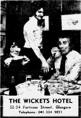 Johnny Beattie at Wickets 1976