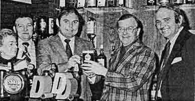 Willie Smith at Blochairn Bar 1978