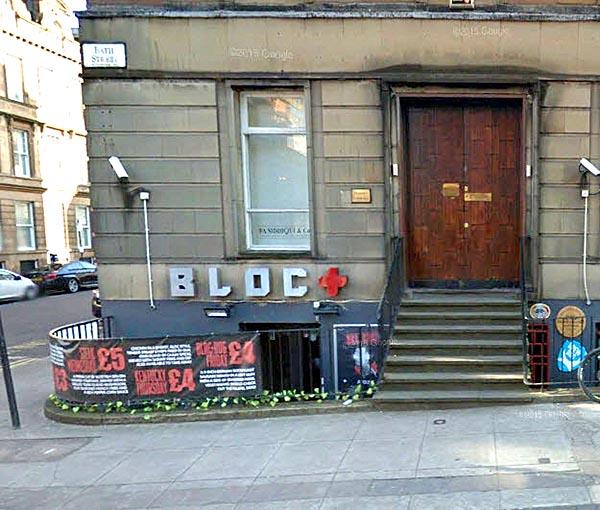 Bloc + frontage 117 Bath Street Glasgow