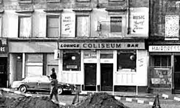 Exterior view of the Coliseum Bar Eglinton Street