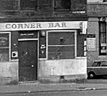 The Corner Bar 113 Stirling Road. 1970s.