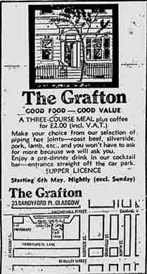 The Grafton advert 1974